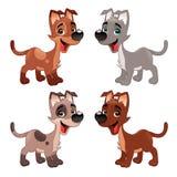 Reeks grappige honden. Stock Afbeelding