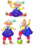 Reeks grappige marionetten op een witte achtergrond stock illustratie