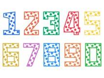 Reeks grappige multicolored kinderencijfers aangaande een witte achtergrond vector illustratie