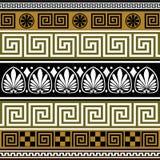 Reeks Griekse grenzen Royalty-vrije Stock Afbeeldingen