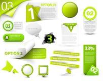 Reeks groene vectorvooruitgangspictogrammen Stock Foto's