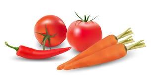 Reeks groenten. Stock Illustratie