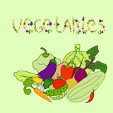 Reeks groenten ( Stock Afbeeldingen