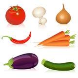 Reeks groenten Stock Foto