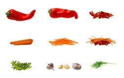 Reeks groenten Royalty-vrije Stock Foto