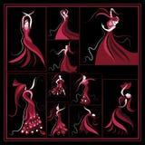 Reeks of groep met abstracte illustraties 13 Royalty-vrije Stock Foto's