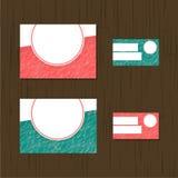 Reeks groetkaarten, adreskaartjes, vlieger Het ontwerp van de dekking Stock Foto