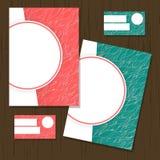 Reeks groetkaarten, adreskaartjes, vlieger Het ontwerp van de dekking Royalty-vrije Stock Foto