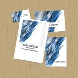 Reeks groetkaarten, adreskaartjes, vlieger Het ontwerp van de dekking Stock Afbeelding