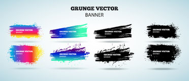 Reeks grunge vectorbanners Stock Fotografie