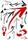 Reeks grungepijlen vector illustratie