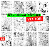 Reeks grungetexturen Stock Afbeelding
