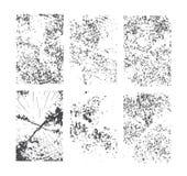 Reeks grungetexturen Abstract vectormalplaatje Royalty-vrije Stock Afbeelding