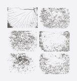 Reeks grungetexturen Abstract vectormalplaatje Royalty-vrije Stock Afbeeldingen