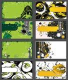 Reeks Grungy Adreskaartjes Stock Afbeeldingen