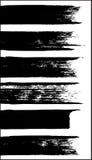 Reeks grungy vectorborstels stock illustratie