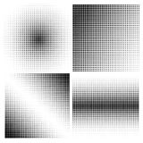 Reeks halftone achtergronden Zwarte kleur Royalty-vrije Stock Afbeeldingen