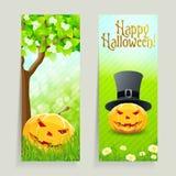 Reeks Halloween-Banners stock illustratie