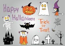 Reeks Halloween elementen Royalty-vrije Stock Foto's