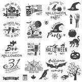 Reeks Halloween-van het partijconcept en ontwerp elementen royalty-vrije illustratie