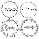 Reeks hand getrokken borstels voor het van letters voorzien en ontwerp Royalty-vrije Stock Foto