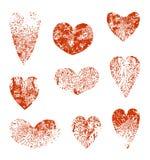 Reeks harten Stock Afbeelding