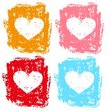 Reeks harten voor valentijnskaarten Stock Afbeelding
