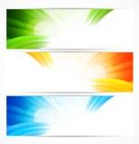 Reeks heldere banners Royalty-vrije Stock Fotografie