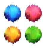 Reeks heldere kleurenvlekken Royalty-vrije Stock Foto's