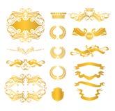 Reeks heraldische elementen Royalty-vrije Stock Afbeeldingen