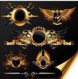 Reeks heraldische elementen Stock Afbeeldingen