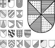 Reeks heraldische schilden Royalty-vrije Stock Afbeelding