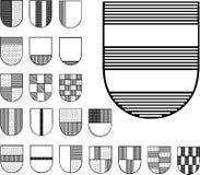 Reeks heraldische schilden Royalty-vrije Stock Afbeeldingen