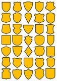 Reeks heraldische schilden Stock Foto's