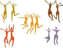 Reeks het dansen cijfers Stock Foto