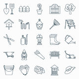 Reeks het tuinieren pictogrammen royalty-vrije illustratie
