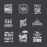 Reeks het van letters voorzien ` de Zomervakantie `, de elementen van het typografieontwerp vector illustratie