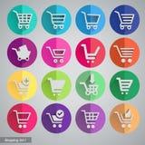 Reeks het winkelen pictogrammen Stock Foto