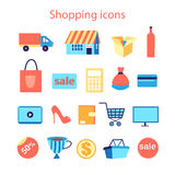 Reeks het winkelen pictogrammen Royalty-vrije Stock Afbeelding