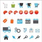 Reeks het winkelen pictogrammen Royalty-vrije Stock Afbeeldingen