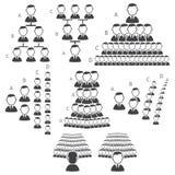 Reeks hiërarchiepictogrammen Stock Afbeelding