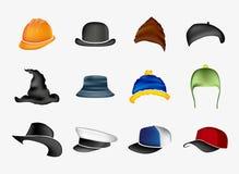 Reeks hoeden Stock Foto's