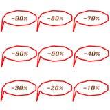 Reeks hoekige markeringen van de speciale aanbiedingverkoop Stock Fotografie
