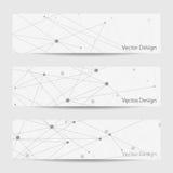 Reeks horizontale banners Stock Afbeeldingen