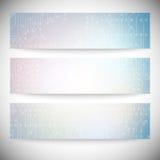 Reeks horizontale banners Microchipachtergronden, Royalty-vrije Stock Foto's