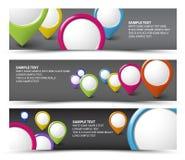 Reeks horizontale banners van het kaartmerkteken Royalty-vrije Stock Foto's