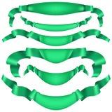 Reeks horizontale groene banners EPS 10 vector Royalty-vrije Stock Fotografie