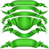 Reeks horizontale groene banners EPS 10 vector Stock Afbeelding