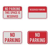 Reeks horizontale tekens voor parkerenstreek stock foto