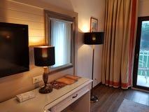 Reeks in hotel, Kemer, Middellandse Zee, Turkije stock foto